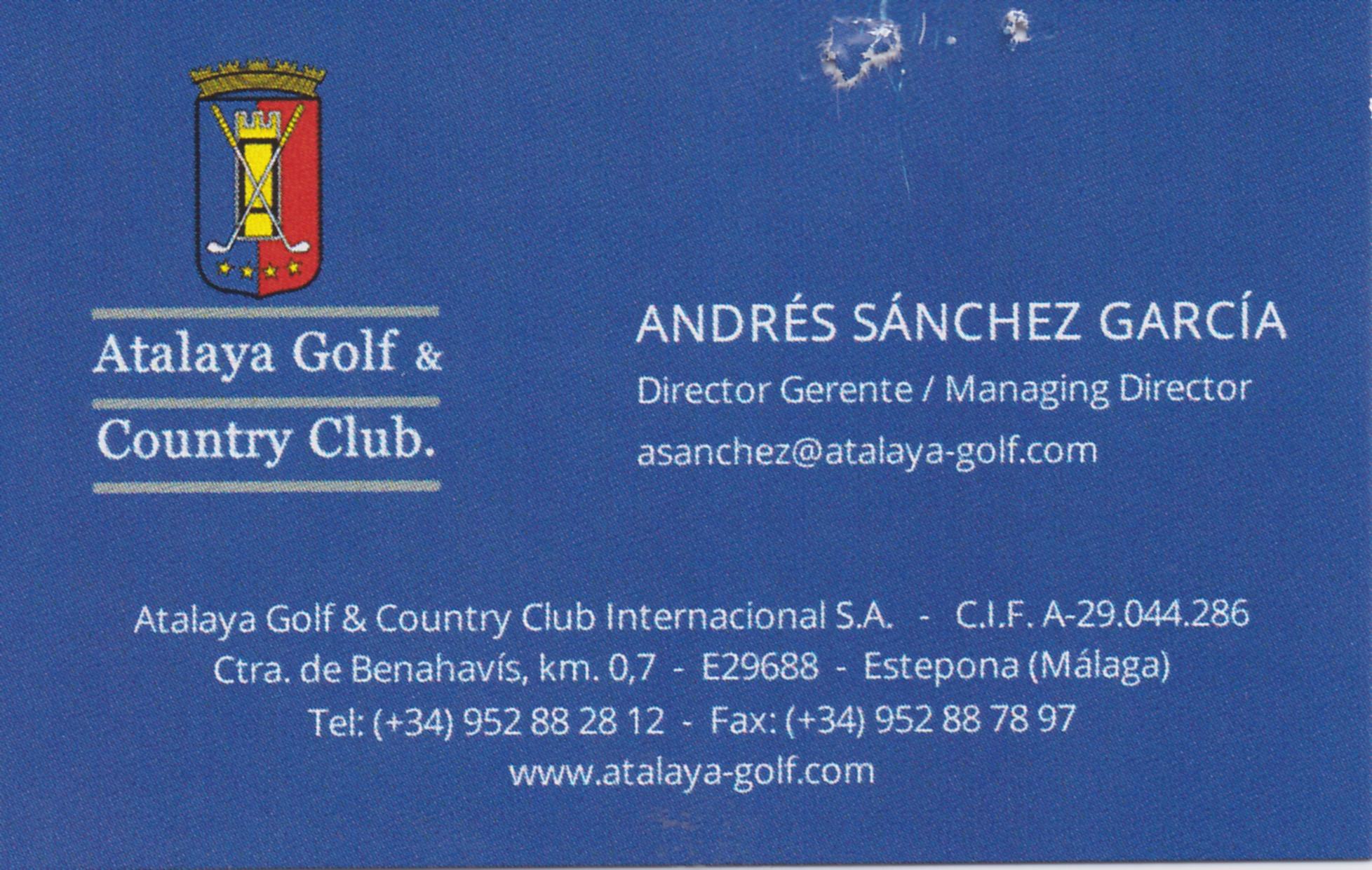 Atalaya Andres Sanchez