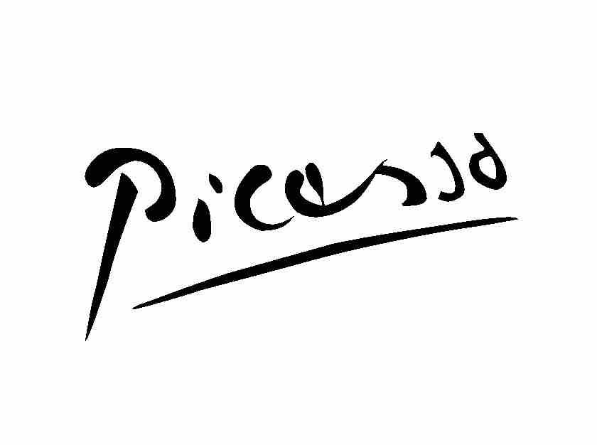 Picasso Signatur
