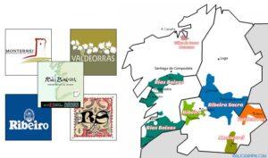mapa vinos galicia do